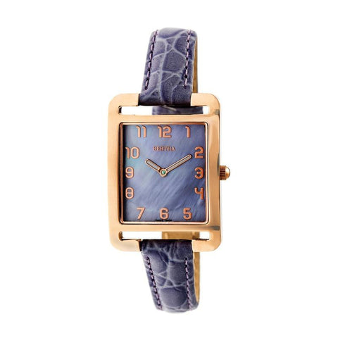 Bertha Marisol Swiss MOP Leather-Band Watch - Lavender BTHBR6905