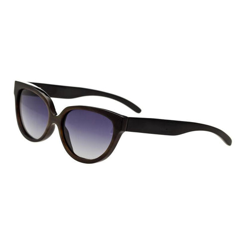 Bertha Taylor Buffalo-Horn Polarized Sunglasses - Black/Black BRSBR001B
