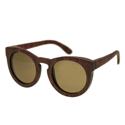 Spectrum Aikau Wood Polarized Sunglasses - Cherry/Brown SSGS124BN
