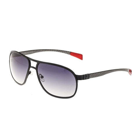Breed Concorde Titanium and Carbon Fiber Polarized Sunglasses - Black/Black BSG001BK