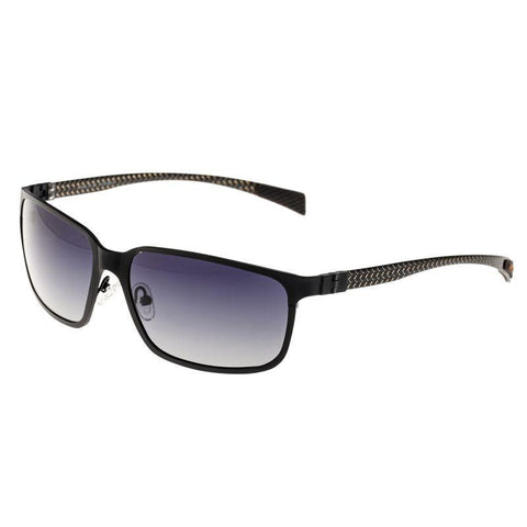 Breed Neptune Titanium and Carbon Fiber Polarized Sunglasses - Black/Black BSG008BK