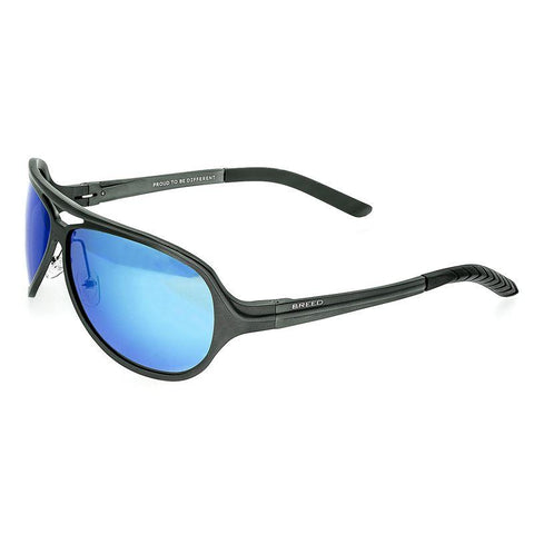 Breed Langston Aluminium Polarized Sunglasses - Gunmetal/Blue BSG012SR