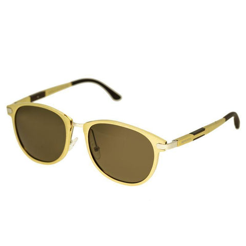 Breed Orion Aluminium Polarized Sunglasses - Gold/Brown BSG020GD