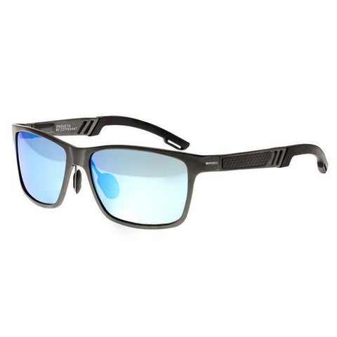 Breed Pyxis Titanium Polarized Sunglasses - Gunmetal/Blue BSG024BL