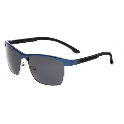Breed Bode Aluminium Polarized Sunglasses - Blue/Black BSG026BL