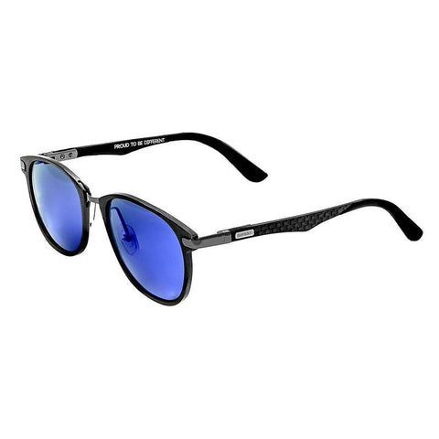 Breed Cetus Aluminium and Carbon Fiber Polarized Sunglasses - Gunmetal/Blue BSG027GM