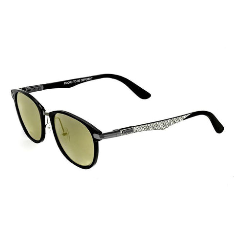 Breed Cetus Aluminium and Carbon Fiber Polarized Sunglasses - Black/Gold BSG027BK