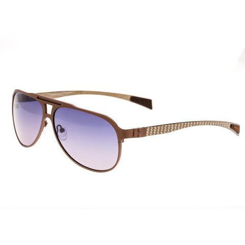 Breed Apollo Titanium and Carbon Fiber Polarized Sunglasses - Brown/Purple BSG006CP