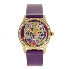 Bertha Annabelle Leather-Band Watch - Purple BTHBR9204