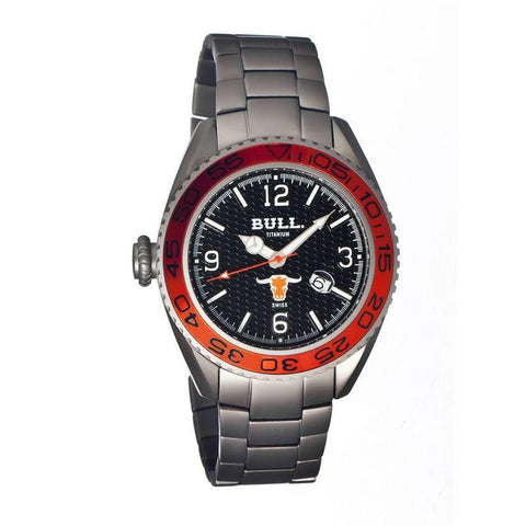 Bull Titanium Hereford Men's Swiss Bracelet Watch - Black BULHR002