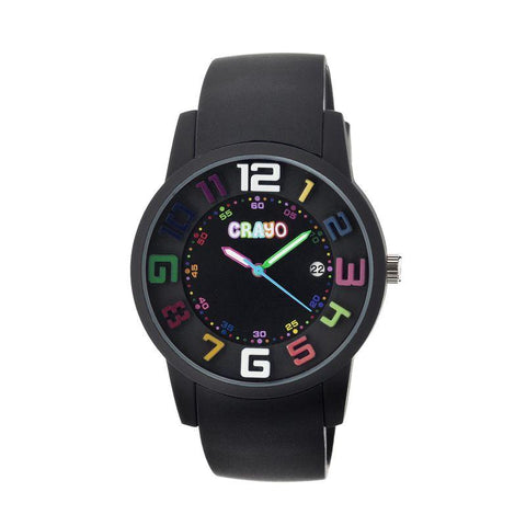 Crayo Festival Unisex Watch w/ Date - Black CRACR2006