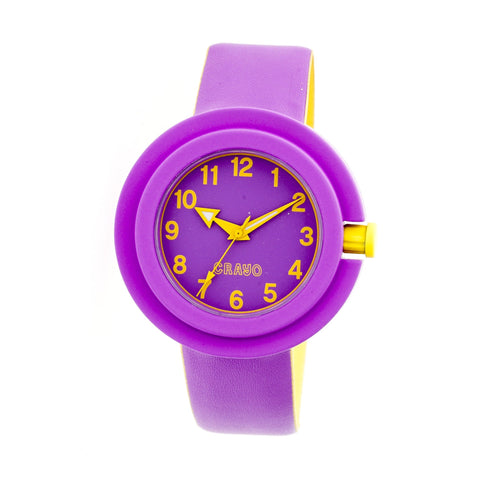 Crayo Equinox Unisex Watch - Purple/Yellow CRACR2807