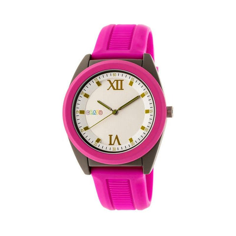 Crayo Praise Quartz Watch - Fuchsia/Charcoal CRACR3607