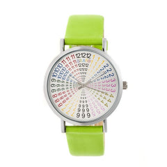 Crayo Fortune Strap Watch - Silver/Lime