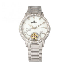 Empress Quinn Semi-Skeleton Dial Bracelet Watch - Silver