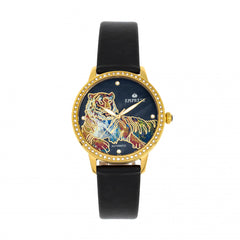 Empress Diana MOP Leather-Band Watch - Black EMPEM3003