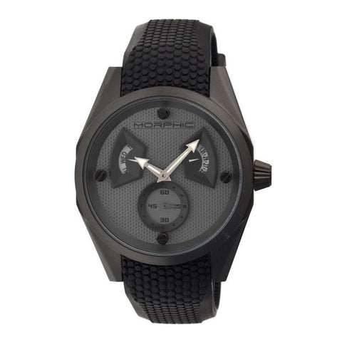 Morphic M34 Series Men's Watch w/ Day/Date - Black/Grey MPH3403