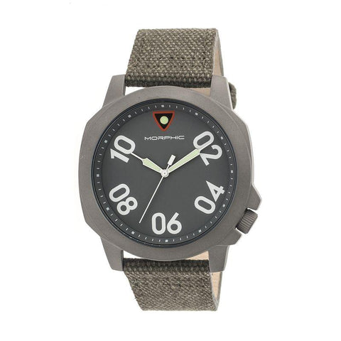 Morphic M41 Series Canvas-Band Men's Watch - Olive/Grey MPH4103