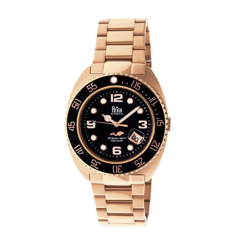 Reign Quentin Automatic Pro-Diver Bracelet Watch w/Date - Rose Gold REIRN4903