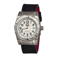 Shield Jarrod Leather-Band Swiss Men's Diver Watch - Silver