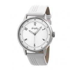 Simplify The 5700 Leather-Band Watch - White