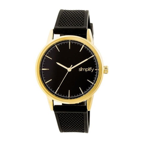 Simplify The 5200 Strap Watch - Gold/Black SIM5203