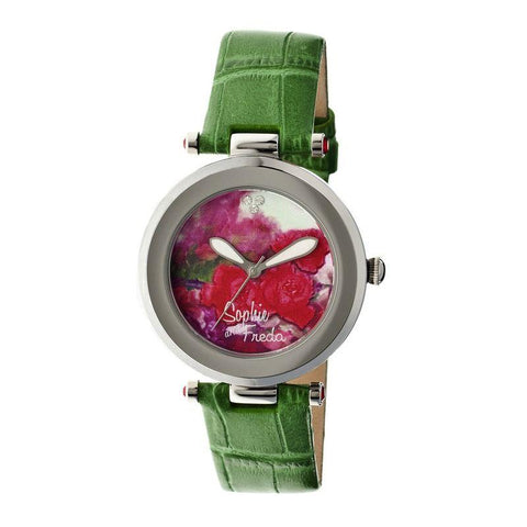Sophie & Freda Butchart Leather-Band Ladies Watch - Green SAFSF1702