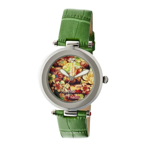 Sophie & Freda Kew Leather-Band Ladies Watch - Green SAFSF1803