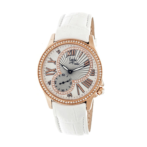 Sophie & Freda Toronto Leather-Band Ladies Watch - Rose Gold/White SAFSF2806