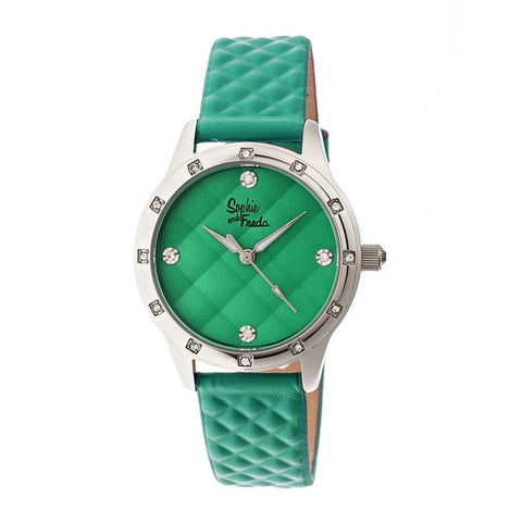 Sophie & Freda Lancaster Leather-Band Ladies Watch - Green SAFSF3207