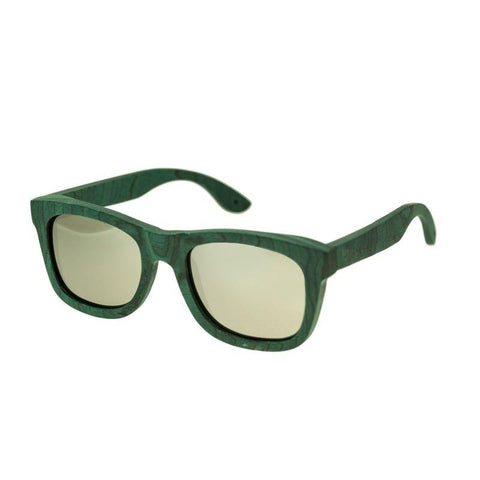 Spectrum Hamilton Wood Polarized Sunglasses - Teal/Silver SSGS106SR