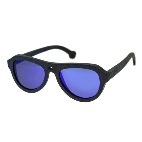 Spectrum Machado Wood Polarized Sunglasses - Blue/Blue SSGS113BL