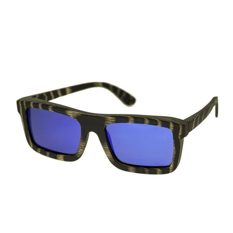 Spectrum Ward Wood Polarized Sunglasses - Black Stripe/Blue SSGS117BL