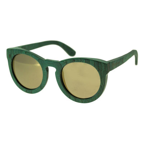 Spectrum Malloy Wood Polarized Sunglasses - Teal/Gold SSGS122GD
