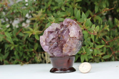 Amethyst Sphere on Base