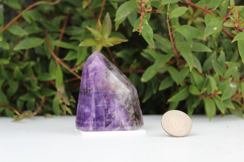 Polished Amethyst Point on Base