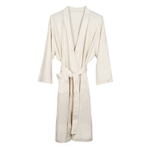 Organic Cotton Knitted Bathrobe - Ecru