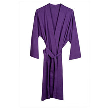 Organic Cotton Knitted Bathrobe - Purple
