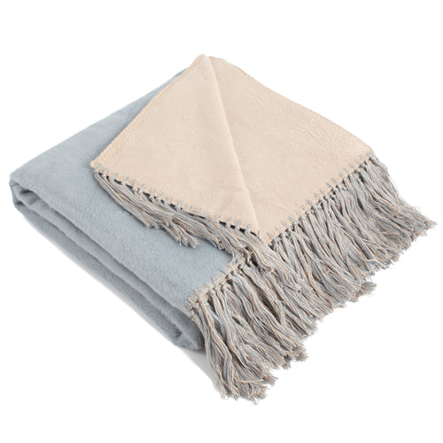 Bi-color Viscose Throw Blanket