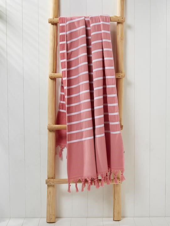 Full Body Stripe Fouta Bath Towel Set