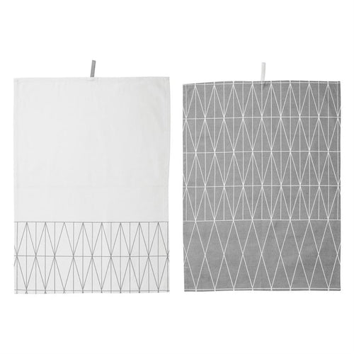 Diamond Cotton Kitchen Towel Set