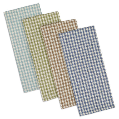 Lake House Checks Dishtowel Set