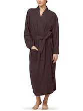 Organic Cotton Knitted Bathrobe - Chocolate