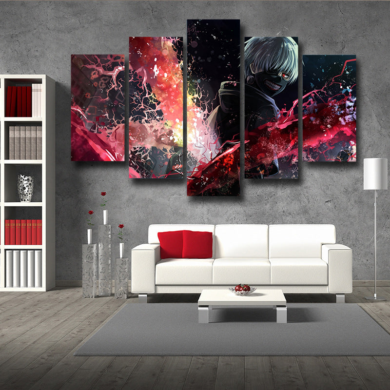 Black Cool Kaneki Kagune Canvas