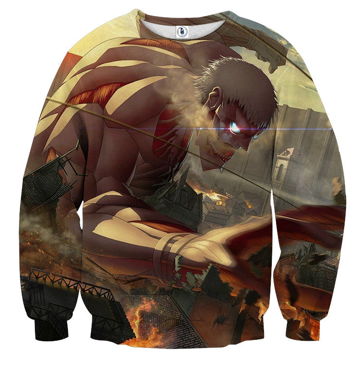 AttackOnTitan Armored 3D Printed Sweatshirts
