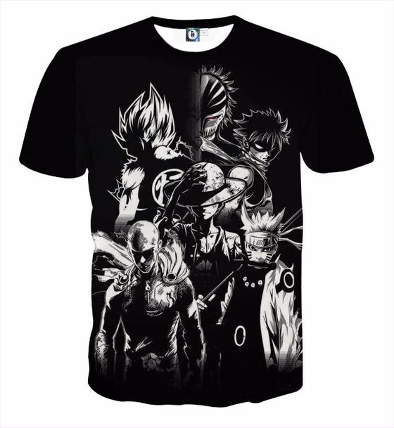 Dragon Ball Z 3D Printed T-shirt - All Heroes