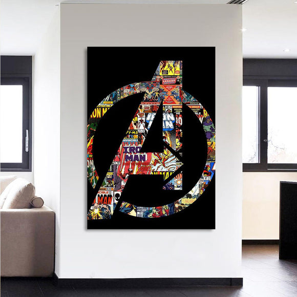 Avengers Logo Canvas 3D Printed