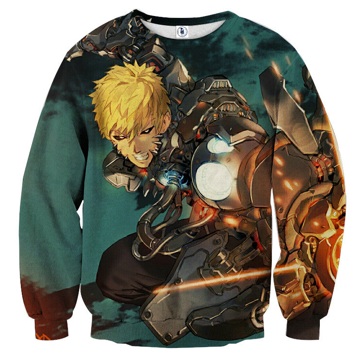 AttackOnTitan Spirit Genos 3D Printed Sweatshirts