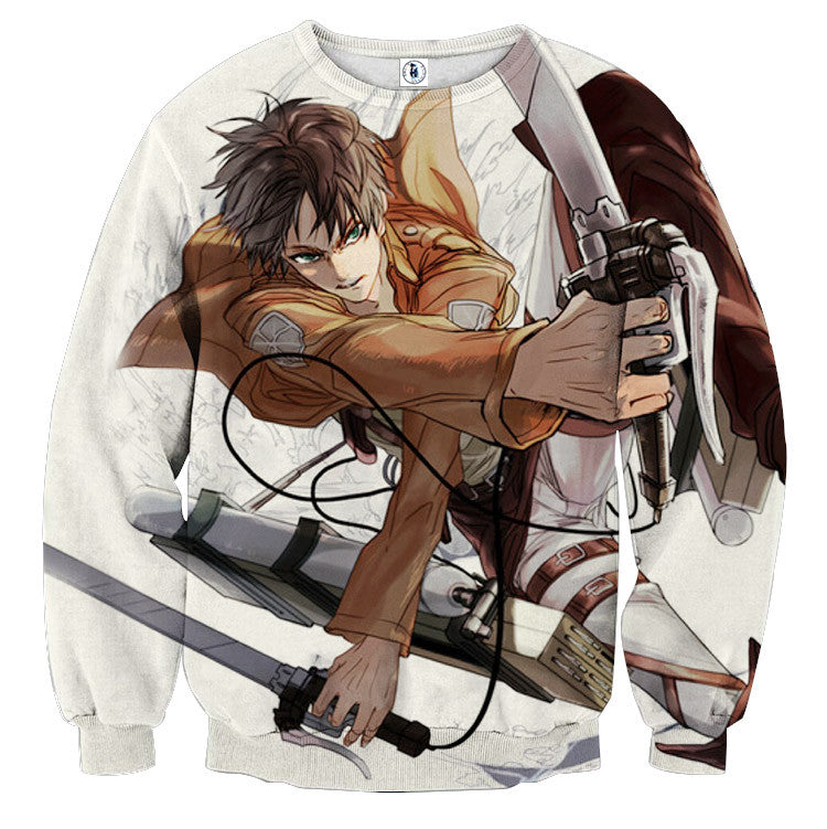 AttackOnTitan Eren-Yeager 3D Printed Sweatshirts