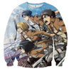 AttackOnTitan Eren Squad 3D Printed Sweatshirts